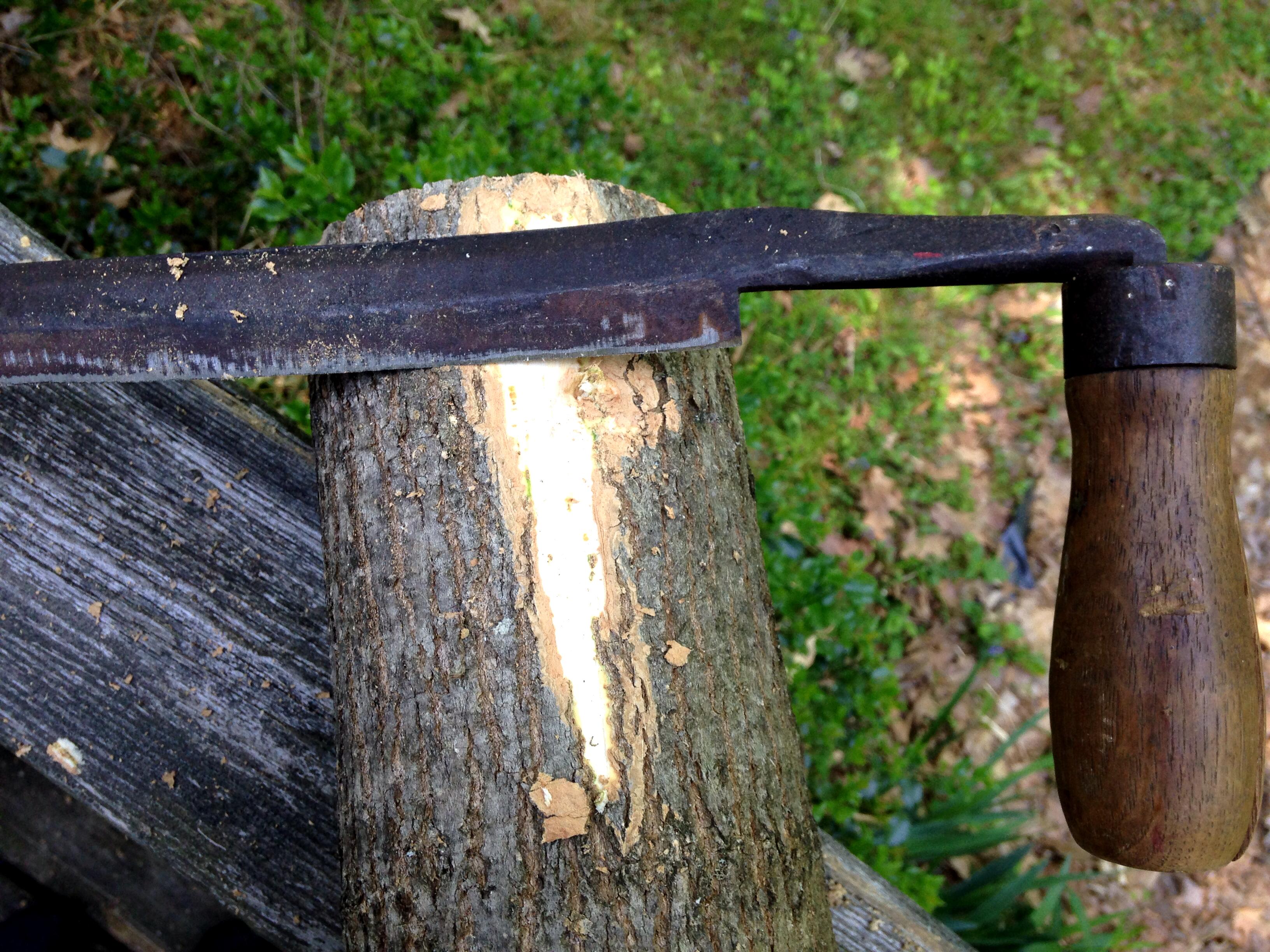 drawknife for basketry
