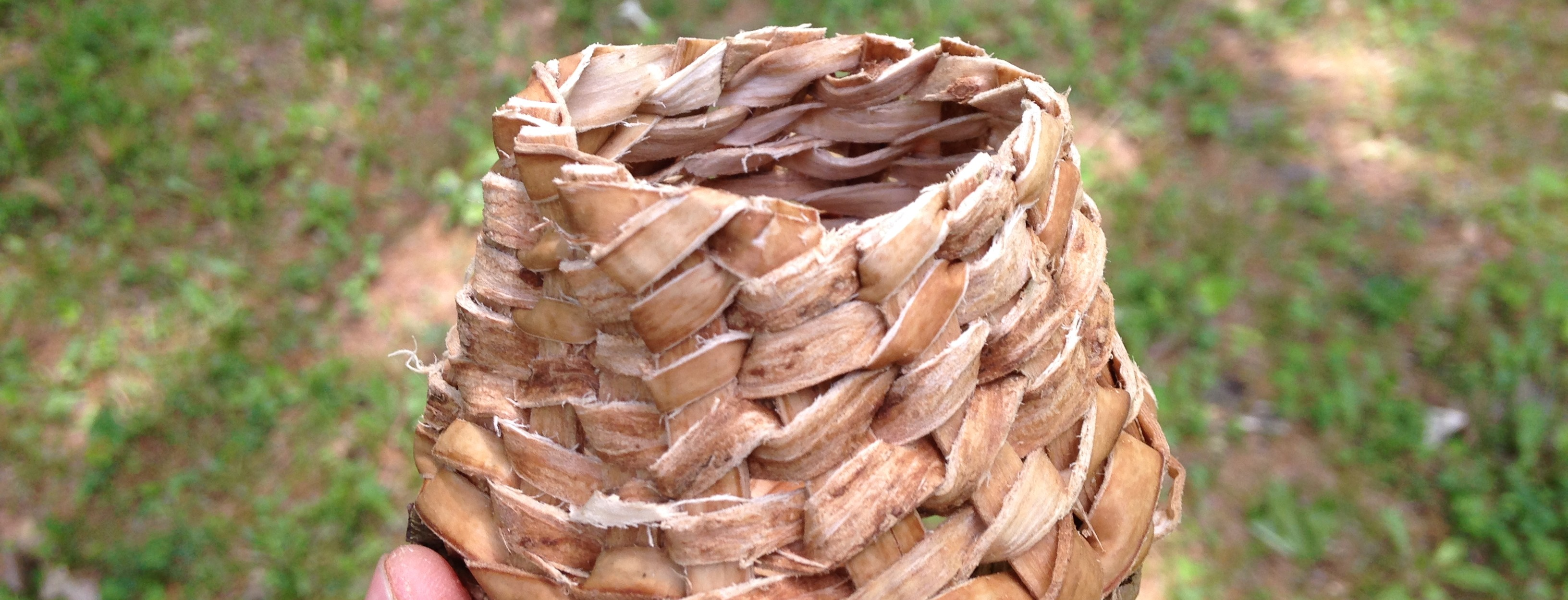 Twined White Ash Basket