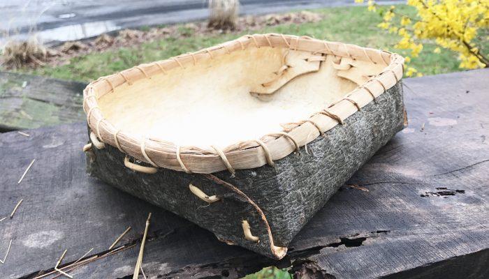 Folded White Pine Bark Baskets