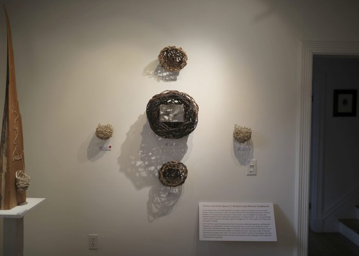 Installation View Of Woven Pieces