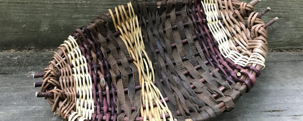 Woven Willow And Vine Tray