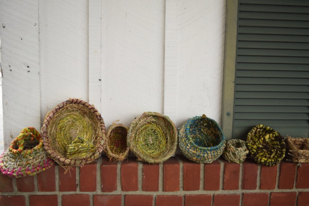 all the baskets in a row