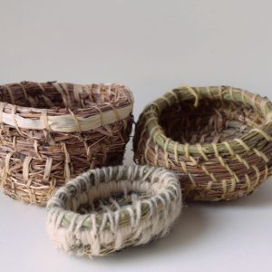Coiled Baskets With Grasses And Cattails