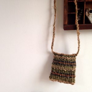 Twined Bag With Cordage