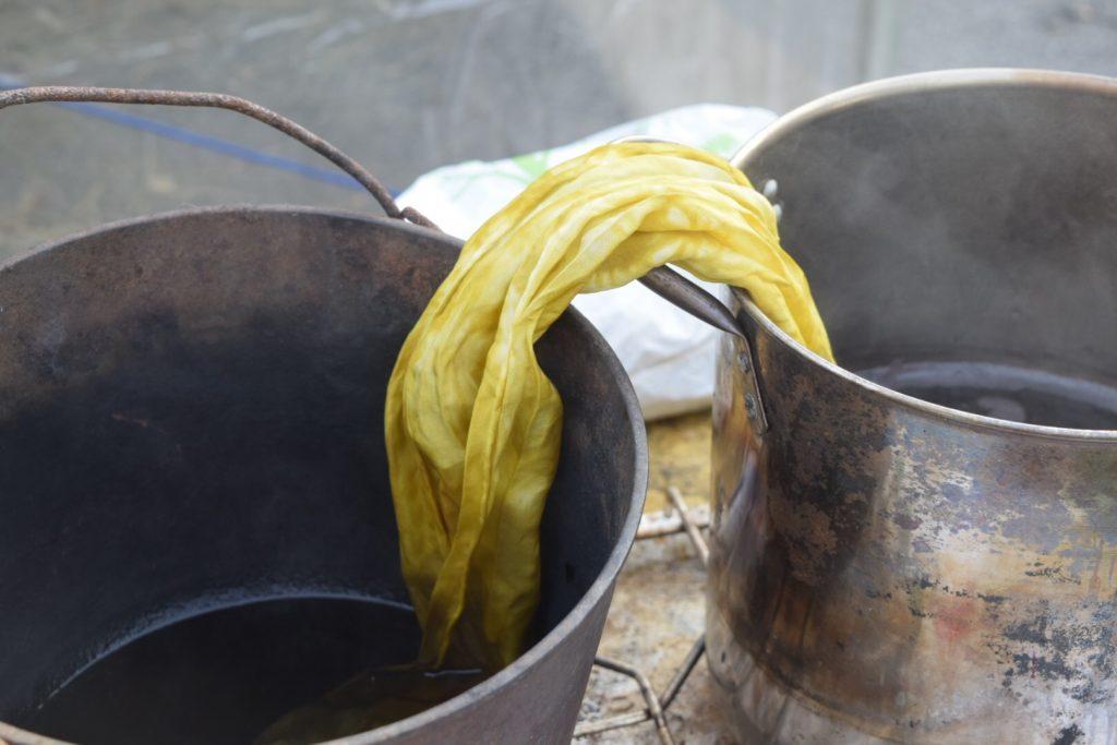 Marigold silk scarf Iron Madefire