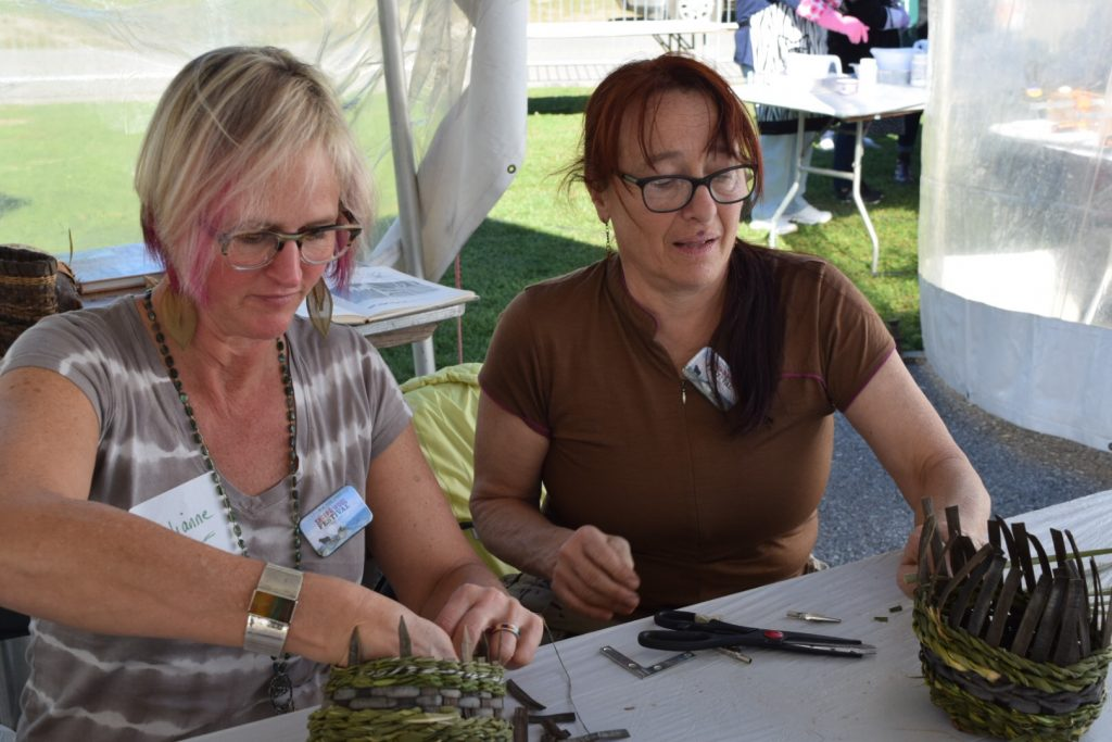 Getting started on weaving twined baskets