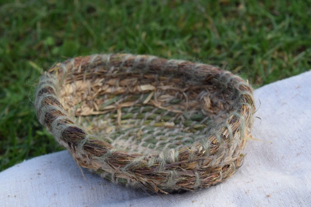 gorgeous coiled basket