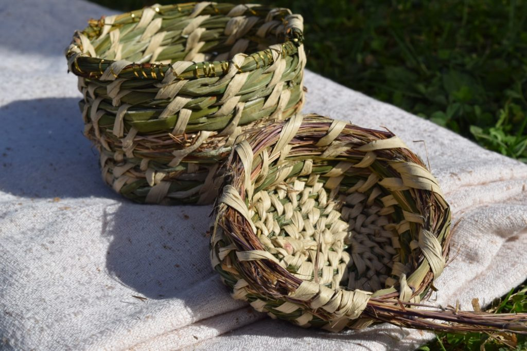 twin coiled baskets