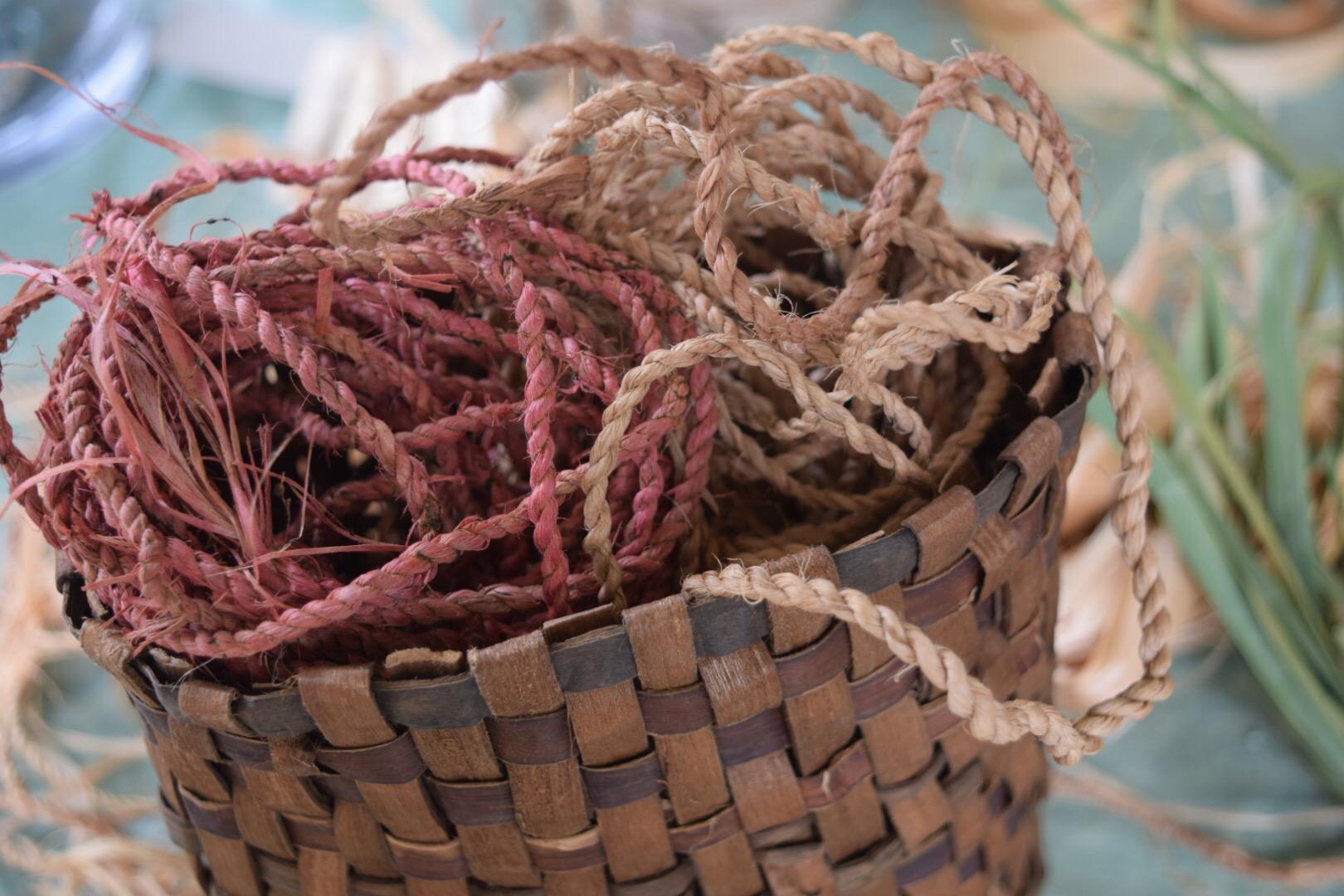 basswood fiber cordage