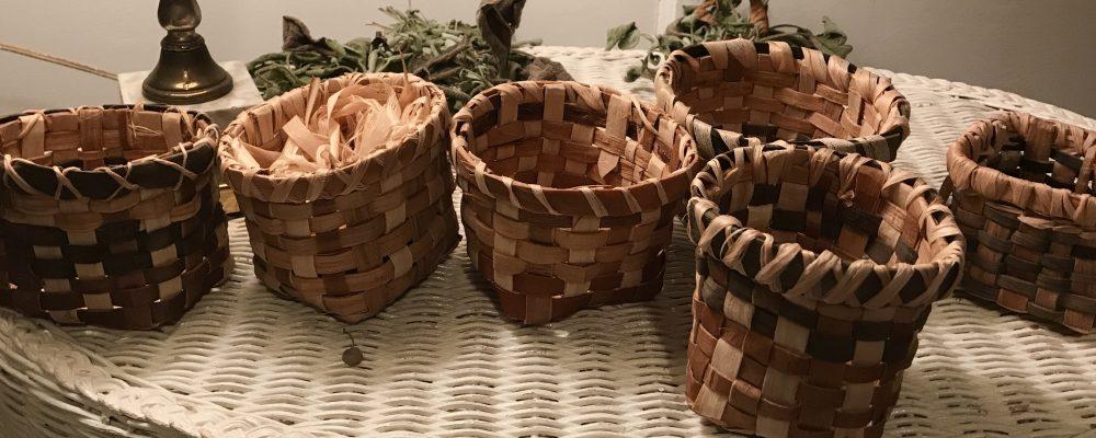 Bark Woven Baskets