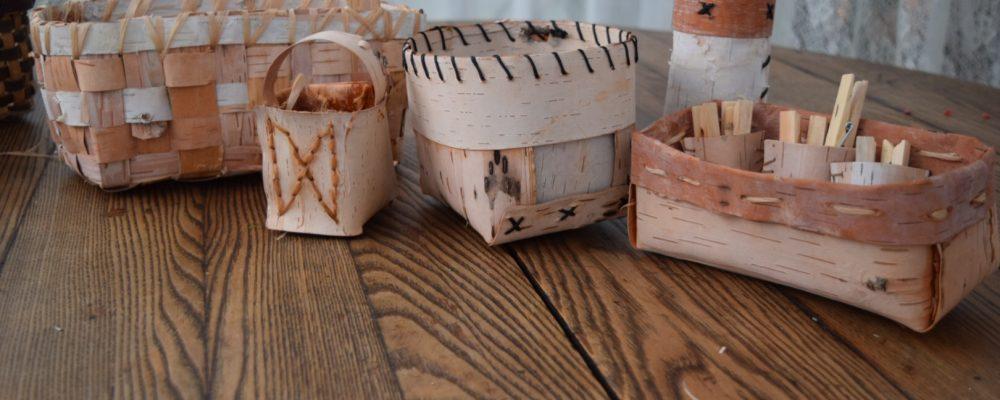Folded Birch Bark Baskets With Katie Grove
