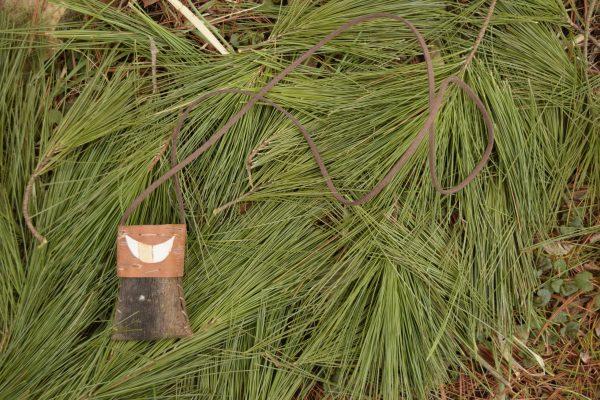 pine bark basket necklace