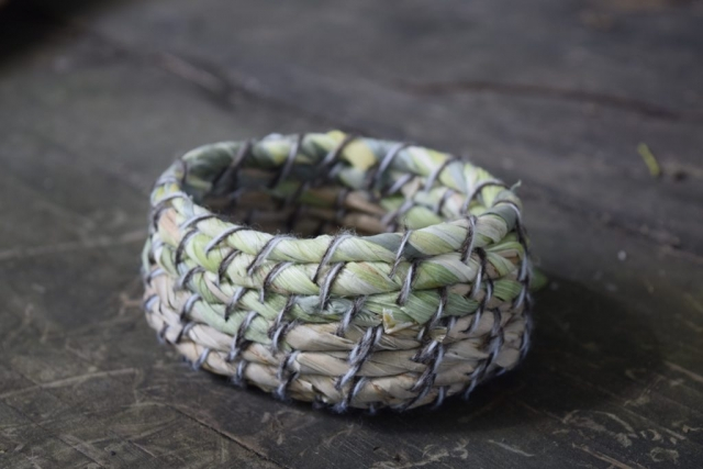 gorgeous coiled cattail basket